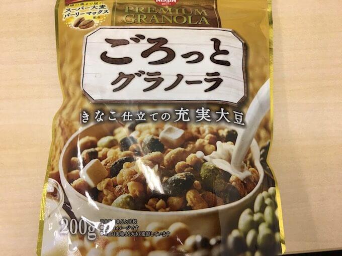 ごろっとグラノーラのきなこ仕立ての充実大豆