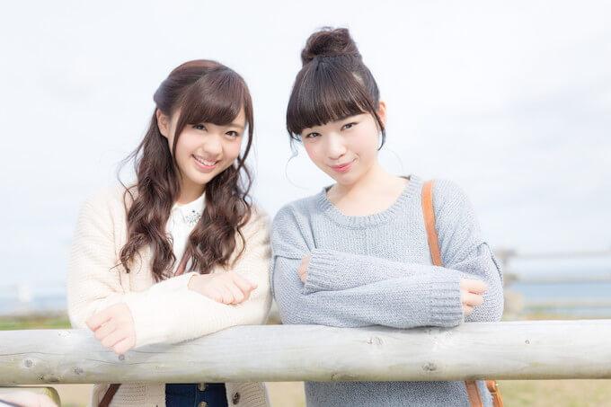 かわいい女性二人組