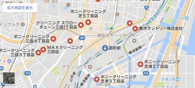 田町駅周辺地図